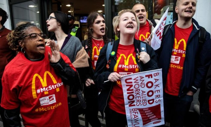 McDonald's 'don't care' about sexual harassment of employees, says striking worker