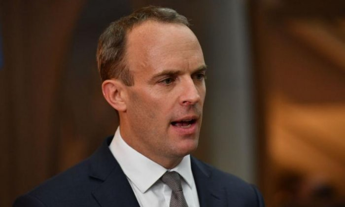 Dominic Raab accused of 'running away' from people in border towns
