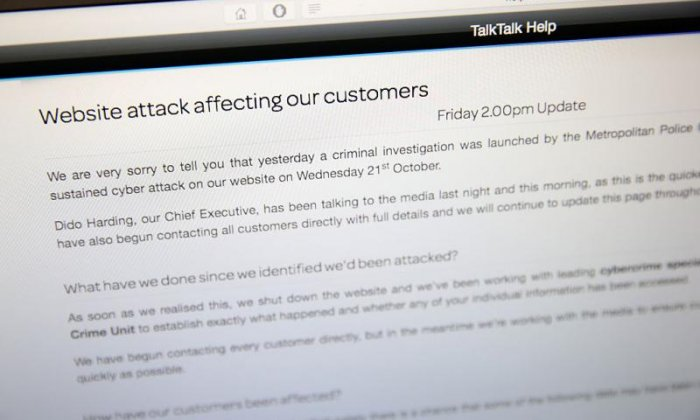 Hackers jailed for stealing TalkTalk customers details in £77m attack