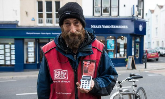 You can now buy the Big Issue using your contactless debit card