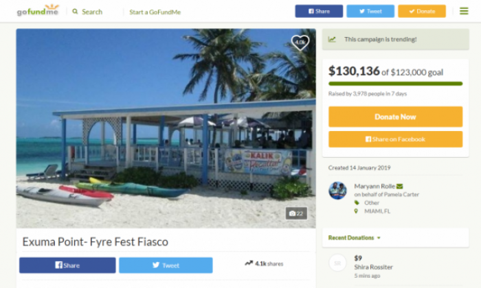 GoFundMe page raises over £100k for unpaid Fyre Festival caterer after featuring in new Netflix documentary