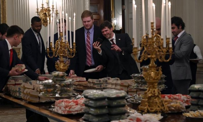 Burgers and fries on White House menu as Donald Trump lays out fast food feast