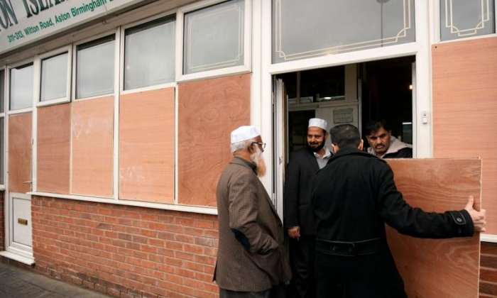 Two arrested after windows smashed at five Birmingham mosques