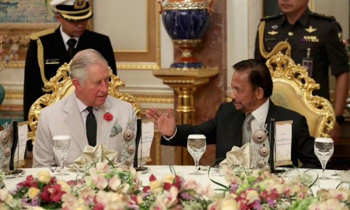 Prince Charles and Sultan Hassanal Bolkiah