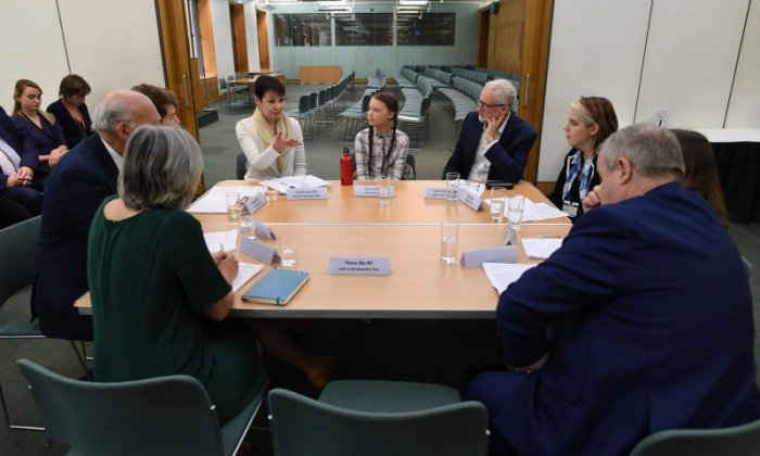 PM 'empty-chaired' as teenage climate activist meets party leaders