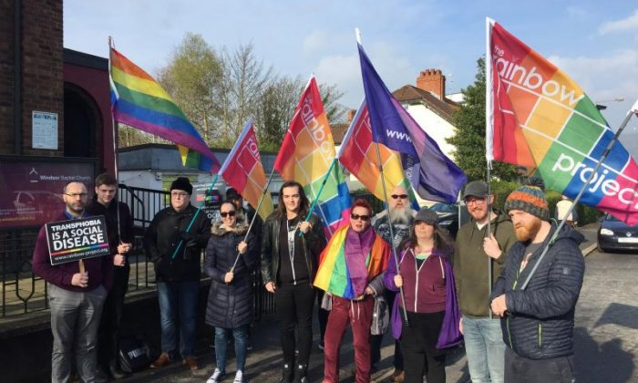 LGBT protest at Christian conference for those with 'same sex temptations'
