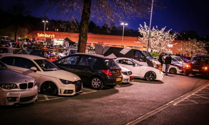 Boy racers receive parking fines worth £13,000 after meet-up