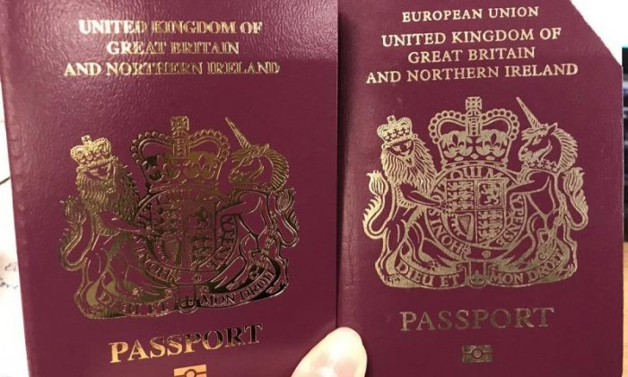 United Kingdom  authorities already issuing new non-European Union passports