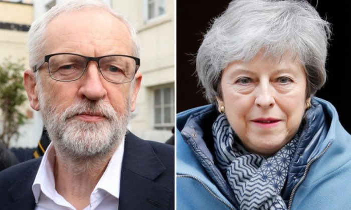 Jeremy Corbyn and Theresa