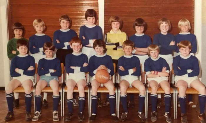 Primary school football team photo recreated 40 years later