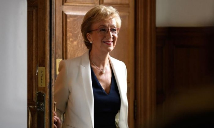 Andrea Leadsom backs Boris Johnson in Tory leadership race