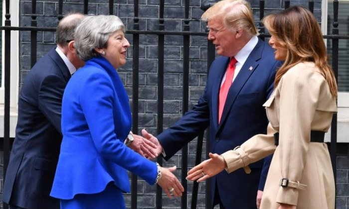 Theresa May's gift to Melania Trump branded 'sexist'