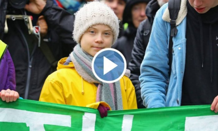 Thousands join Greta Thunberg in march in southwest England