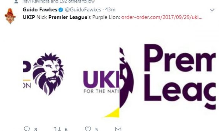 Gary Lineker 'a sanctimonious little twerp', says Ukip after logo tweet