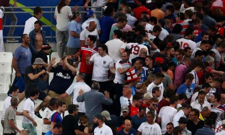 Presenter Bryn Lucas on witnessing the Russia and England fan clash inside Marseille's Stade Vélodrome
