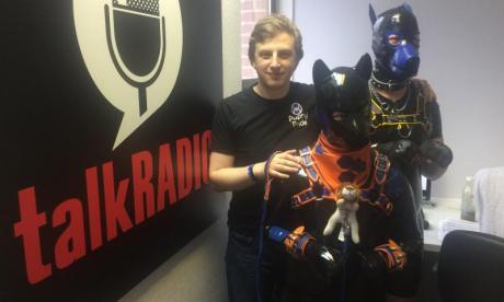 Human puppies visit talkRADIO