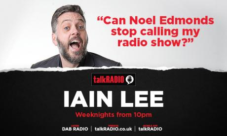 Is Noel Edmonds calling Iain Lee? We can't tell