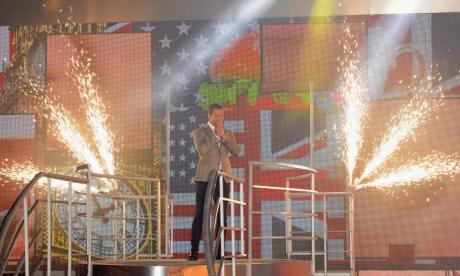 The 2015 Celebrity Big Brother winner James Hill greets the crowds. 2016's version of the show has now begun