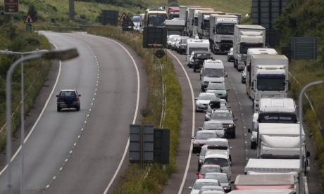 Travellers heading for Dover were delayed for up to 16 hours over the weekend