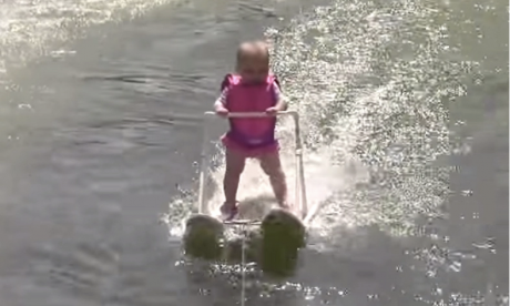 Zyla St. Onge - Youngest water skier - six months