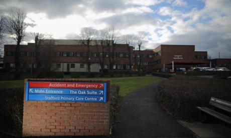 A&E services for under-18s have been suspended in Stafford