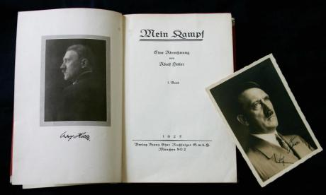 Nazi books were discovered on a mountainside