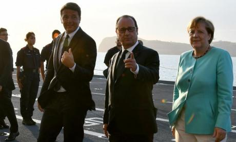 Germany's Angela Merkel, French President Francois Hollande and Italian Prime Minister Matteo Renzi have met to discuss Brexit