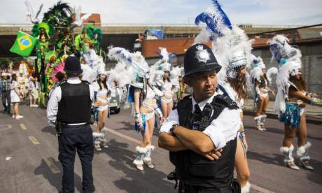 Heavy police presence remains as partygoers attend Notting Hill Carnival