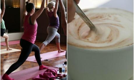 Yoga and a turmeric almond cappuccino! Lonely Lunch Club's all about Eve today