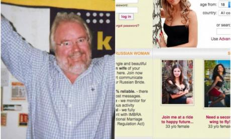 From Russia with love! Mike Parry's secret profile on Russian dating website revealed