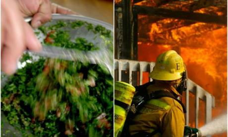 Salads and firefighters! Amelia burns her way into the Lonely Lunch Club