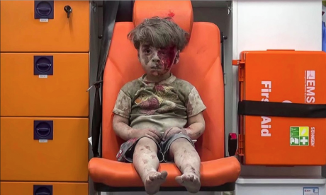 Young boy in an ambulance
