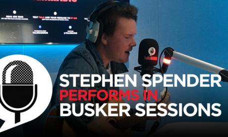 Stephen Spender Joins Jon Holmes for a busker session