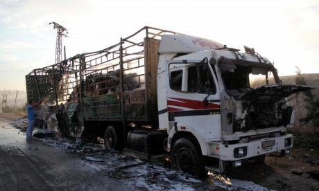US claims Russia is responsible for Syrian aid convoy attack
