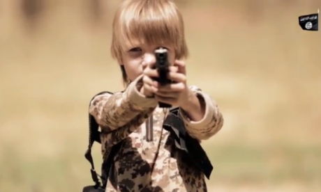 New Islamic State propaganda video forces blond boy to execute a prisoner