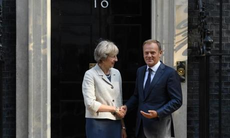 Tusk and May met to discuss Britain's departure from the European Union