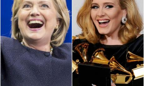 Hillary Clinton 'stunned and thrilled' at Adele's support