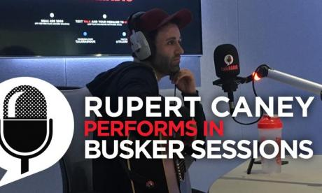 Rupert Caney performs live in Busker Sessions for Jon Holmes