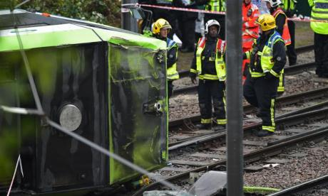 Deaths confirmed, people remain trapped in south London tram crash