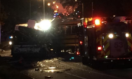 At least three people dead in a school bus crash in Maryland