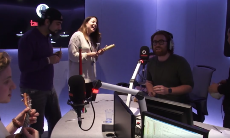 talkRADIO's emergency busker band give their first ever performance