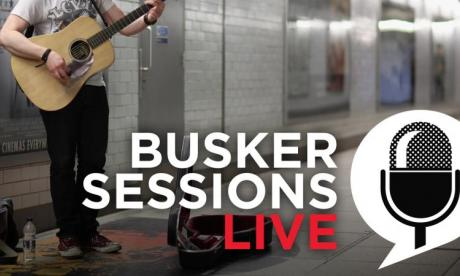 Rosie Blackaller performs in Busker Sessions for Jon Holmes