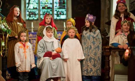 Jon Holmes invites his daughters on air to talk about their nativity play