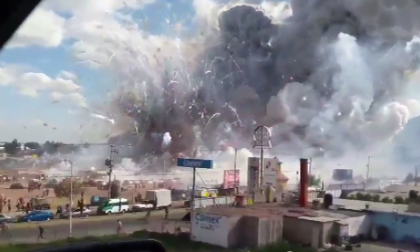Dozens killed as fireworks explosion rips through Mexican market
