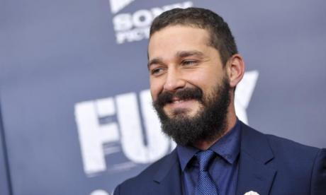Shia LaBeouf returns to anti-Trump protest in New York City