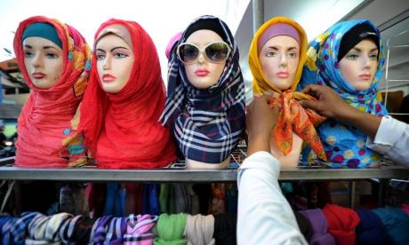 Julia Hartley-Brewer argues against women having to show modesty in a heated debate on the hijab (stock photo)