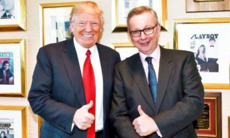Gove interviewed Mr Trump for The Times
