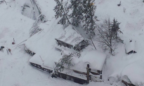 A number of people dead in Abruzzo hotel after earthquakes trigger avalanche in Italy