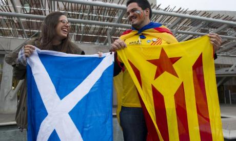 Scottish independence supporters have long declared a kinship with their Catalan counterparts