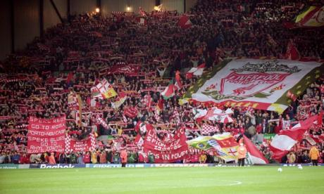 The Kop at Anfield was among the terraced areas demolished to facilitate all-seater stadia